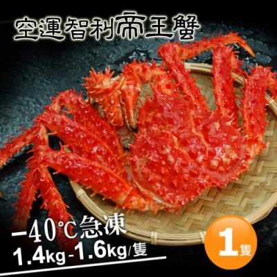 築地一番鮮-比臉大急凍智利帝王蟹1隻(1.4-1.6kg/隻)