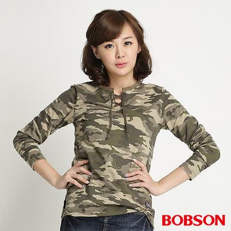 BOBSON 女款迷彩紋長袖上衣(迷彩34077-42)