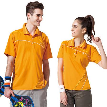 【SPAR】吸濕排汗男女版短袖POLO衫(SP48193、SP47193)炫桔色
