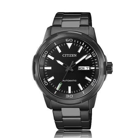 CITIZEN 星辰 時尚紳士不鏽鋼機械錶 NH8375-82E