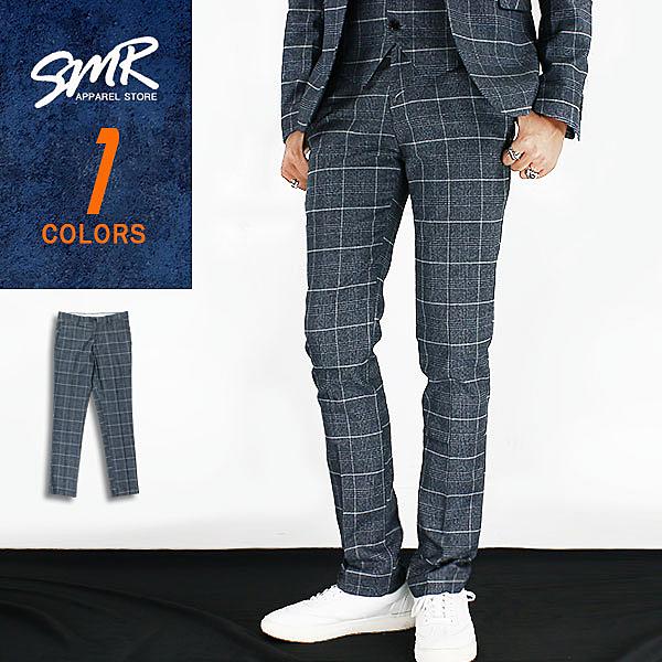 西裝褲-韓格紋西裝褲-格紋紳士款《004KR1369》深灰色【現貨】『RFD』