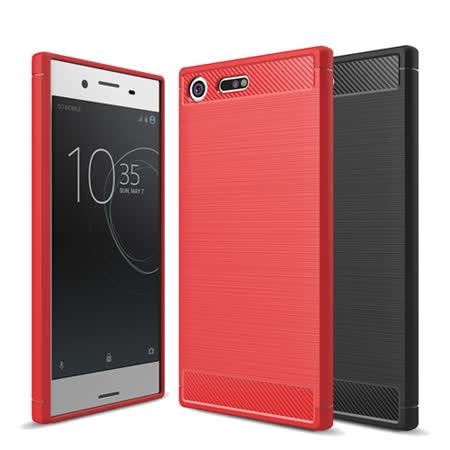 【YANGYI揚邑】Sony Xperia XZ Premium 5.5吋 碳纖維拉絲紋軟殼散熱防震抗摔手機殼