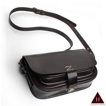 【H-CT】純手工個性設計款真皮斜背包(ZD-D702啡-Z)
