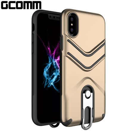 GCOMM iPhone Xs Max 銀鉤盾甲保護殼 金盾甲 Hook Shield