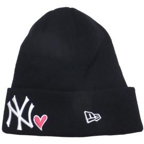 [ニューエラ] ニット帽 ニットキャップ ベーシックカフニット NY ヤンキース ウィズ ハート ブラック 11474697
