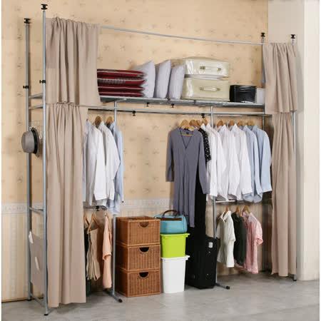 《C&B》衣世家加寬型日式頂天立地伸縮衣櫥