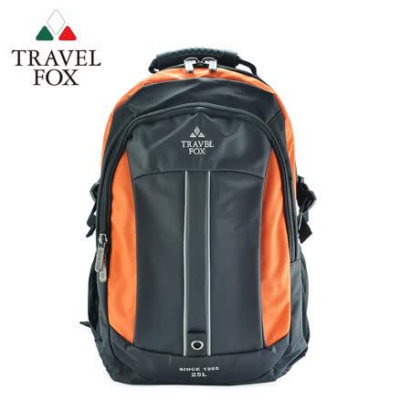 TRAVEL FOX 旅狐 雙色尼龍輕量休閒後背包 TB586-16  橘色