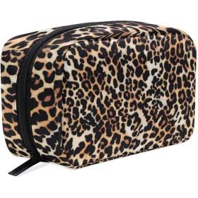 GUKISALA 化粧ポーチ,ヒョウ柄ジャガー動物の毛皮,大容量コスメケース多機能旅行用高品質収納ケース メイク ブラシ バッグ 化粧バッグ ファッションバッグ