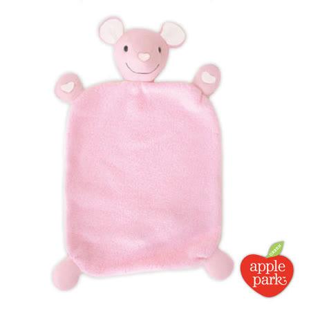美國【Apple Park】有機棉安撫巾彌月禮盒 - 粉紅鼠