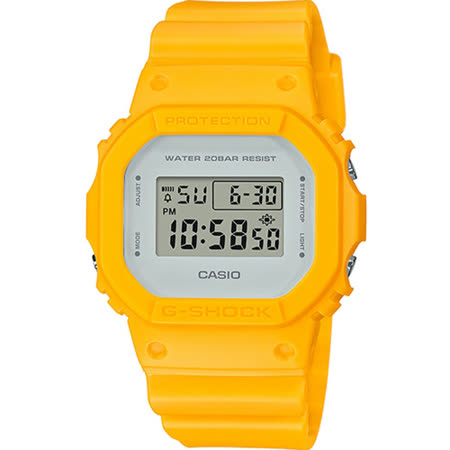 G-SHOCK 經典5600復刻電子錶 DW-5600CU-9 黃