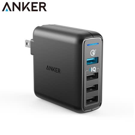 美國Anker PowerPort Speed 4孔Quick Charge3.0 43.5W充電器A2040111