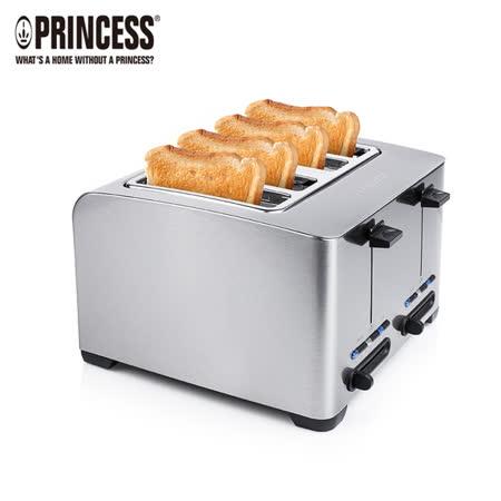 《PRINCESS》荷蘭公主不鏽鋼厚四片烤吐司機(142397)