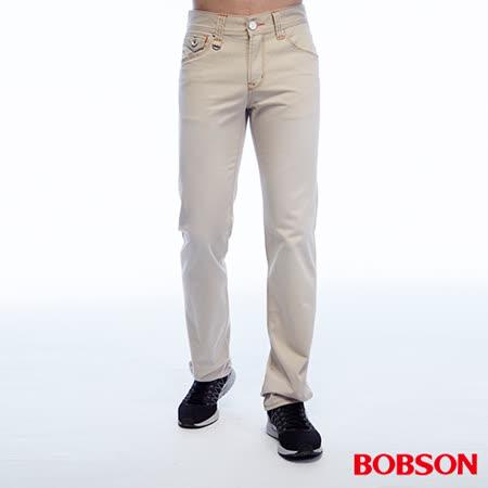 BOBSON 男款刷色半舊直筒褲 (1788-70)