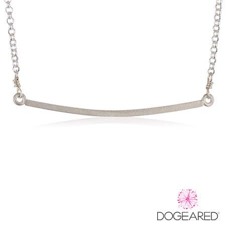 【DOGEARED】Balance Medium Square Bar Necklace 方形銀條925純銀吊墜項鍊