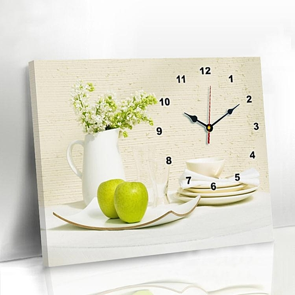 現代簡約客廳餐廳錶裝飾畫免打孔電錶箱掛畫創意鐘錶臥室壁畫掛鐘  ATF  夏季新品