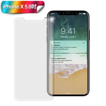 XM iPhone X 5.8吋 防指紋霧面鋼化保護貼