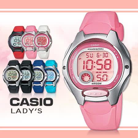 【CASIO 卡西歐】造型小巧、可愛甜美/學生必備電子錶(LW-200-4B)