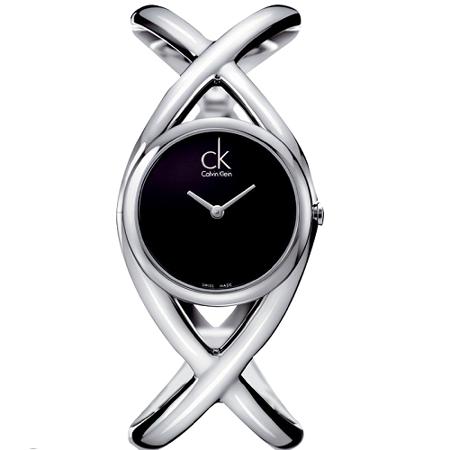 瑞士 Calvin Klein 交叉造型手鐲式女錶 (K2L23102)