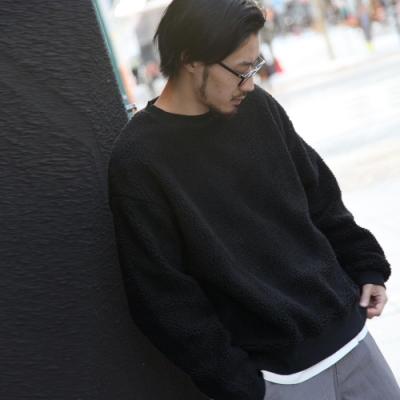 ZIP日本男裝 仿羊絨寬版運動衫(7色)