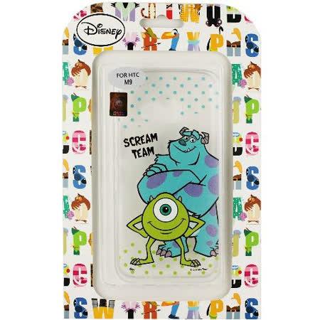 【Disney】HTC ONE M9 彩繪透明保護軟套-毛怪/大眼仔