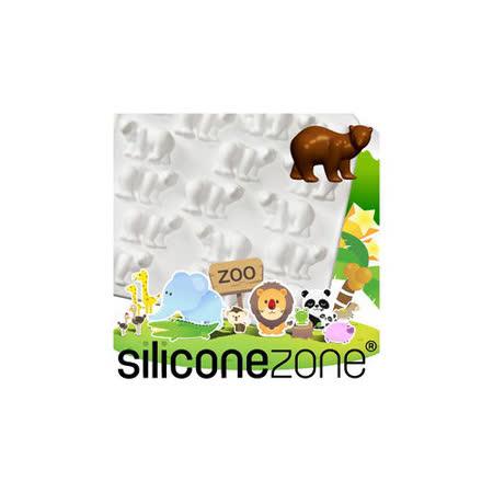 【Siliconezone】施理康ZOO耐熱北極熊巧克力模/冰模-白色