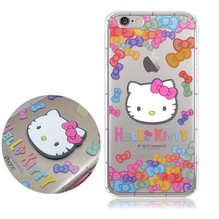 三麗鷗授權 Hello Kitty iPhone 6/6s Plus 5.5吋 立體大頭空壓氣墊保護殼(七彩凱蒂)
