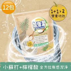 加倍潔 檸檬酸+小蘇打洗衣槽專用去汙劑300gx12包
