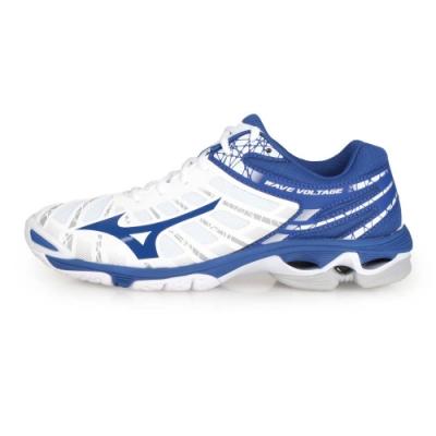 MIZUNO 男 排球鞋 WAVEVOLTAGE 白藍