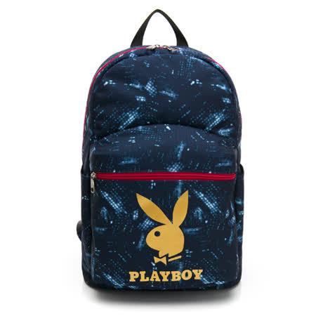 PLAYBOY- 後背包 icontype系列-藍色