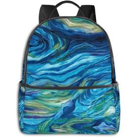 北アメリカの野生動物の抽象的な海 リュック バックパックリュックサック 大容量 PCバッグ レジャーバッグ 旅行カバン 登山リュック ビジネスリュック ユニセックス おしゃれ 人気