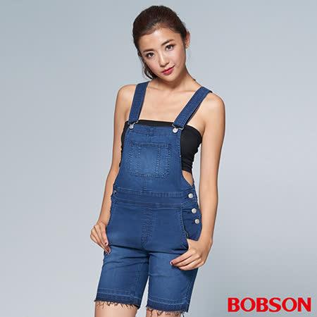 BOBSON 女款1971日本黑標吊帶短褲(BSL006-WD)
