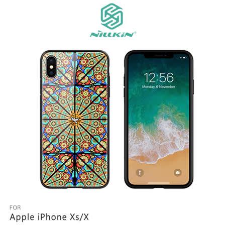 NILLKIN Apple iPhone Xs/X 歐藝彩窗玻璃手機殼