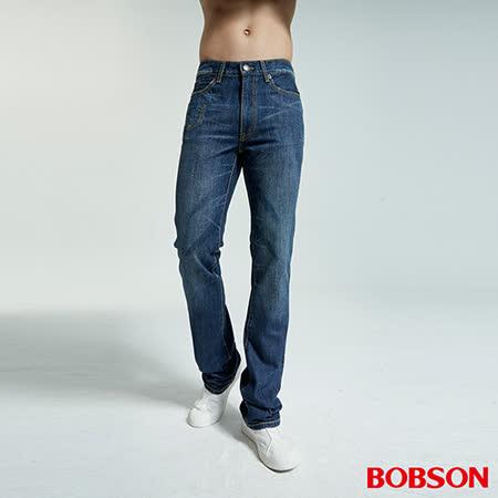BOBSON 男款鬼爪低腰喇叭牛仔褲(1701-53)