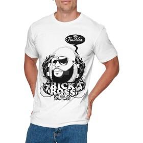 KEATAR 男性用 Particular Rick Ross T Shirt White