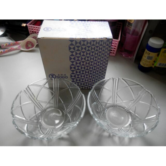 sogo贈品/甜點碗/玻璃碗