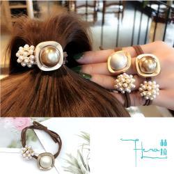 Hera 赫拉 簡約奢華韓國流行珍珠髮飾/髮圈-2色