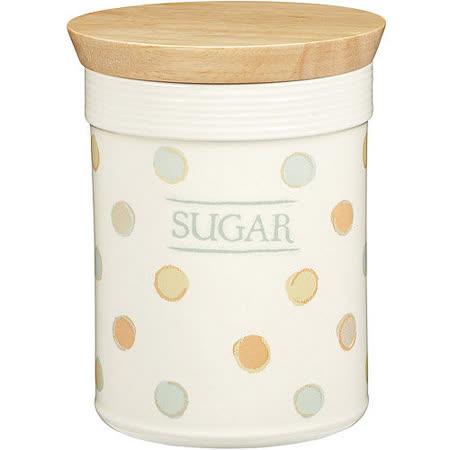 《KitchenCraft》方糖木蓋陶罐(復古點)