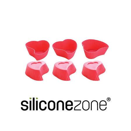 【Siliconezone】施理康心型馬芬巧克力蛋糕模(6入裝)