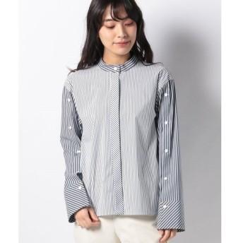【ラ ジョコンダ】【洗える】ブロードストライプシャツ