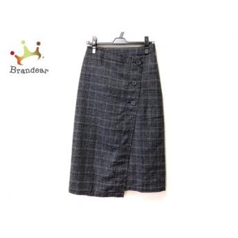 ゴア 巻きスカート サイズF レディース グレー×黒×マルチ NATURAL VINTAGE/チェック柄 新着 20191126