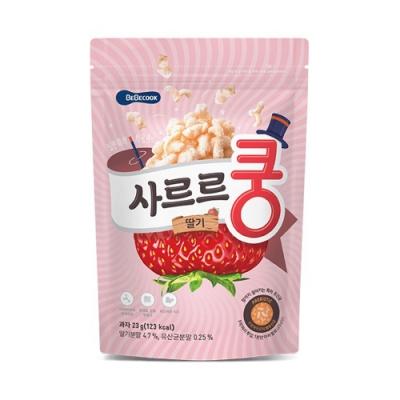 韓國 BEBECOOK 幼兒益生菌泡芙(草莓)