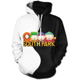 サウスパーク South Park メンズ パーカー スウェットパーカー 長袖 ジャンパー ポケット付き シンプル カジュアル 冬秋春
