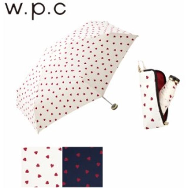 折りたたみ傘 レディース おしゃれ 50cm 傘 雨傘 w.p.c ジッパータイニーケース シャギーハート mini 丸型骨 ハ