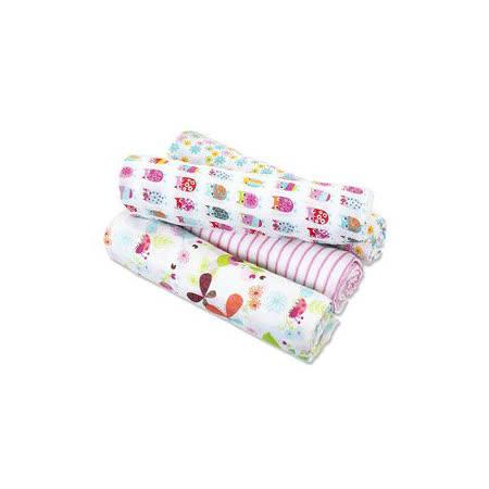 美國Aden+Anais 毯子包巾(四入裝)貓頭鷹款