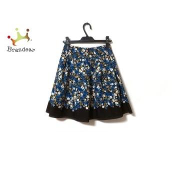 エムズグレイシー スカート サイズ36 S レディース ダークブラウン×ブルー×マルチ 花柄 新着 20191126
