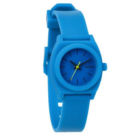 NIXON TIME TELLER P 躍動普普個性腕錶-藍/小-NXA425314