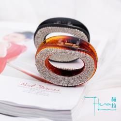 Hera 赫拉 韓版經典水鑽橢圓抓夾-2色