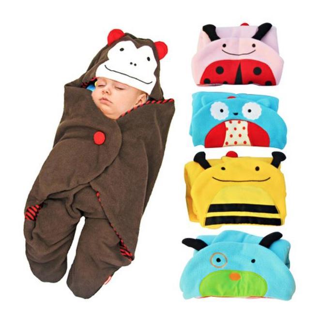 *保暖舒眠* 可愛動物嬰兒車專用包巾/抱毯/睡袋