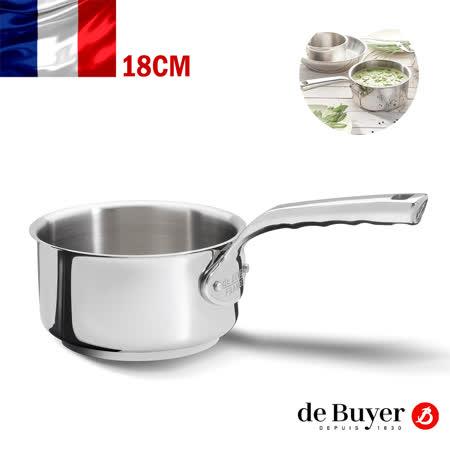 法國【de Buyer】畢耶鍋具[畢耶夫人系列] 單柄調理鍋18cm