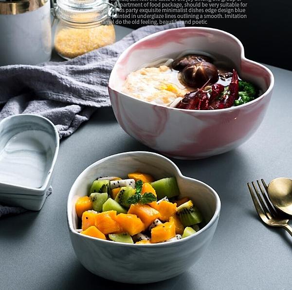 北歐飯碗湯碗沙拉碗大碗陶瓷商用面條拉面泡面碗家用大號創意個性 - 風尚3C